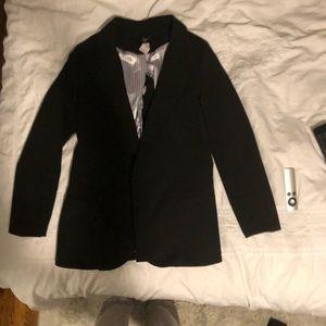Aqua black blazer